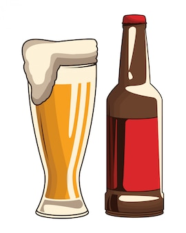 Beverage bottle and beer