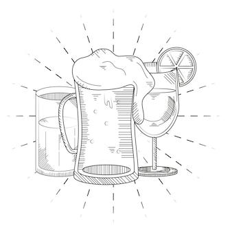 차가운 음료 컵