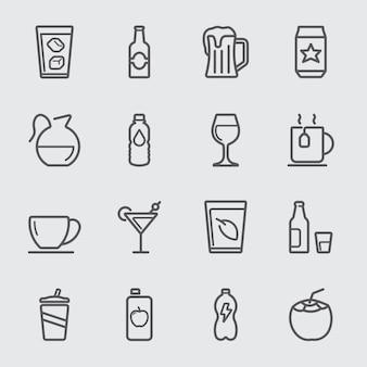 음료 라인 아이콘