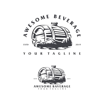 Beverage mountain logo design