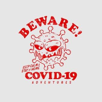 Covid 19の図に注意してください