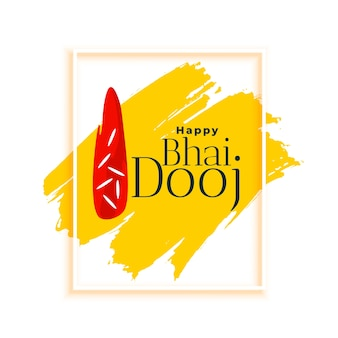Bhai dooj indian celebration greeting card