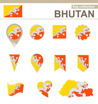 부탄 국기 컬렉션, 12개 버전