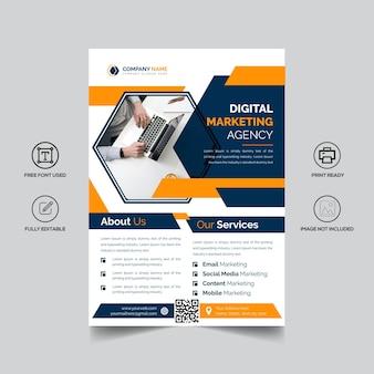 Bi-fold brochure design for corporate business
