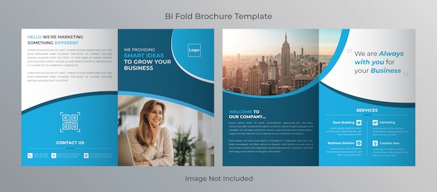 Bi fold corporate brochure template design