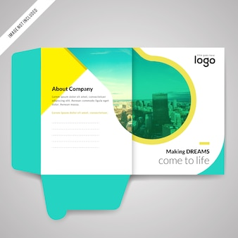 Bi fold Presentation Folder Design Template