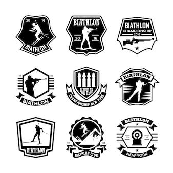 Biathlon badges