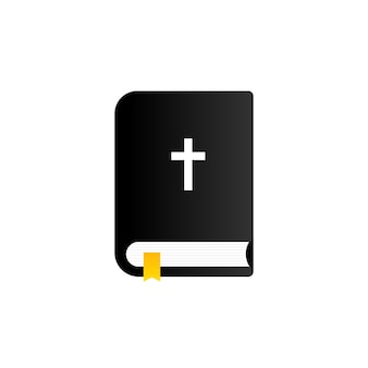 Bible icon. holy scripture. christian concept. vector on isolated white background. eps 10.