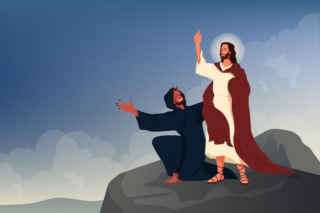 예수 그리스도의 유혹에 관한 성경 이야기.
