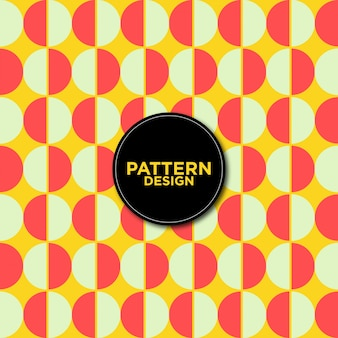 Bicolor circles pattern background
