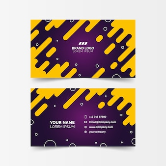 Bicolored abstract company card