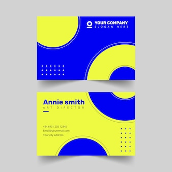 Bicolored business card template