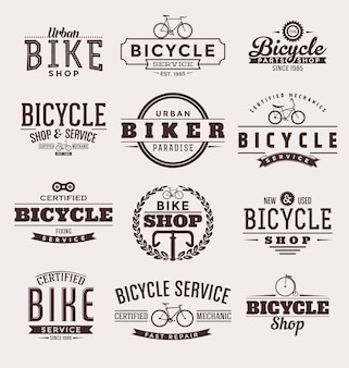 Bicycle badges collection