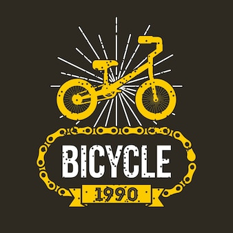 Bicycle chain classic retro banner