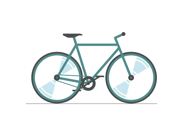 Bicycle color icon cycle wheel colored silhouette sign on white background bike city transport