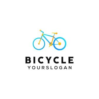 자전거 다채로운 로고 디자인 서식 파일