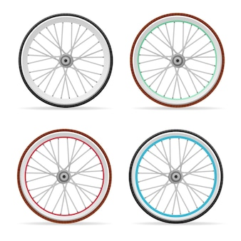 Bicycle colorful wheel and tires set