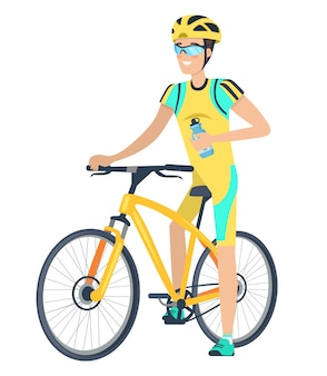 Bicycle and cyclist character