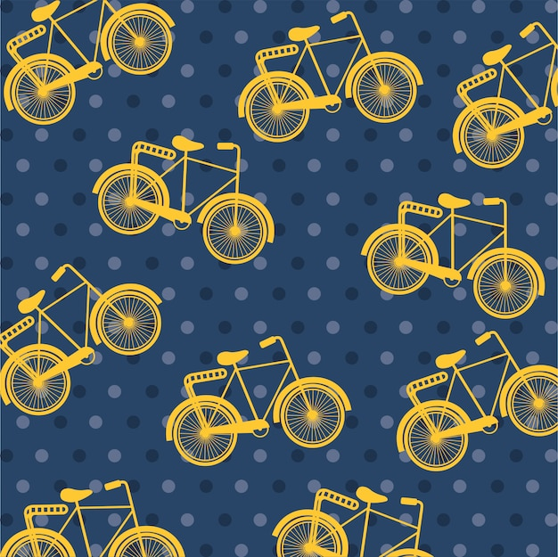 Bicycle design over dotted   background