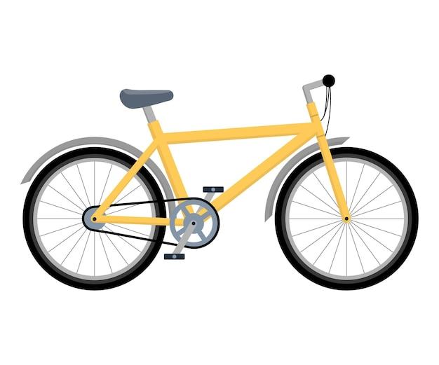 自転車。環境にやさしいサイクリング。白い孤立した背景にフラットスタイルのベクトルイラスト。