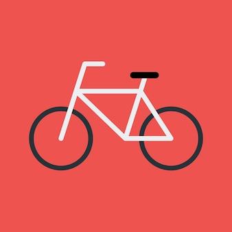 自転車フラット様式化されたサイン。フラットな様式化されたイラスト