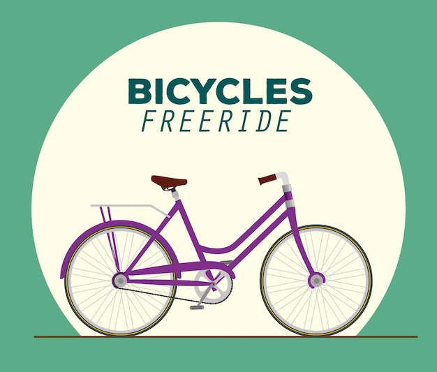 Bicycle to freeride illustration