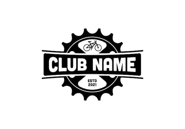 Bicycle, gear. vintage bike shop, bicycle club logo design template inspiration