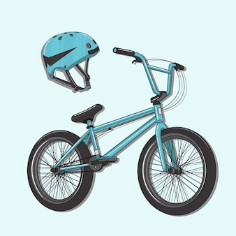 Bicycle and helmet vector illustration