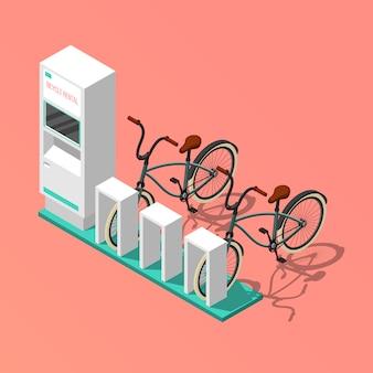 Composizione isometrica bicicletta