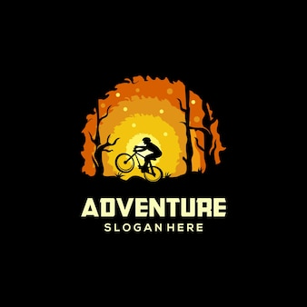 自転車のロゴデザイン