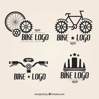 Bicycle logos set