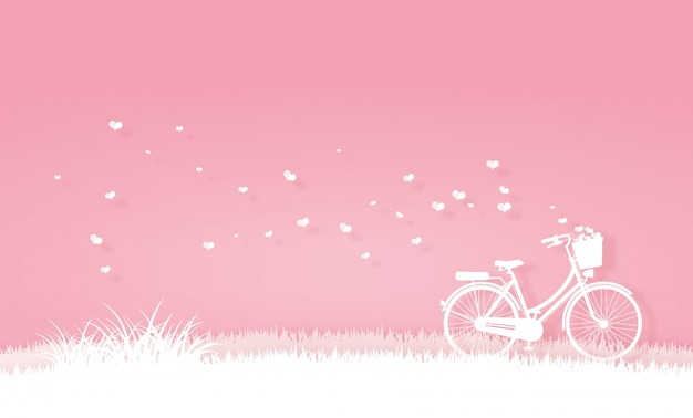 Bicycle in the meadow or garden