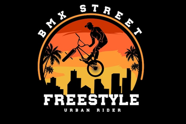Bicycle motocross street freestyle silhouette design