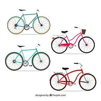 Bicycle pack in flat design