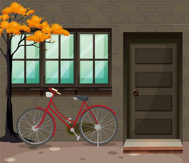 建物外の自転車駐車場