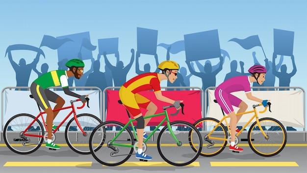 Турнирная гонка на велосипедах