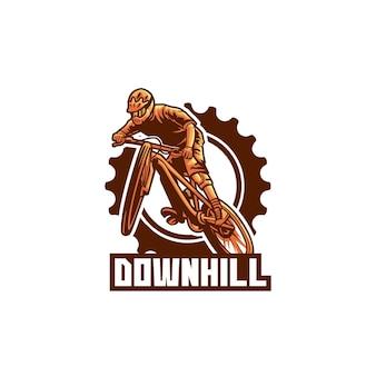Bicycle ride downhill urban speed logo
