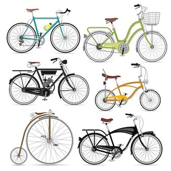 Иллюстрация набора велосипедов