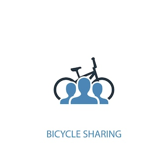 Bicycle sharing concept 2 colored icon. simple blue element illustration. bicycle sharing concept symbol design. can be used for web and mobile ui/ux