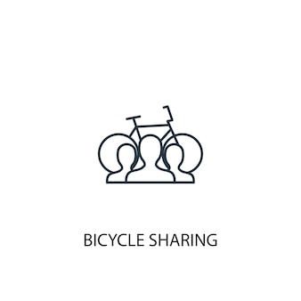 Bicycle sharing concept line icon. simple element illustration. bicycle sharing concept outline symbol design. can be used for web and mobile ui/ux