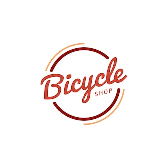 Bicycle shop logo design vector