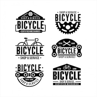 Bicycle shop and service logo design