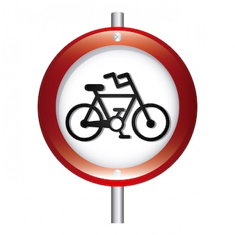Bicycle signal graphic design  vector illustration
