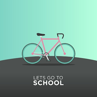 Bicycle transportation back to school