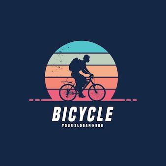 Велосипед векторный дизайн логотипа