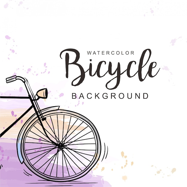 Bicycle watercolor background