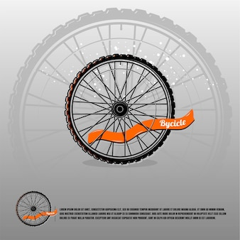 Bicycle wheel logo premium