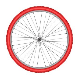 Велосипедное колесо на белом фоне качества векторные иллюстрации