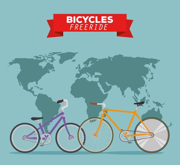 世界のフリーライドへの自転車輸送