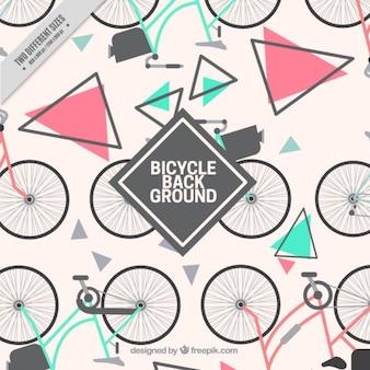 Biciclette con triangoli di sfondo